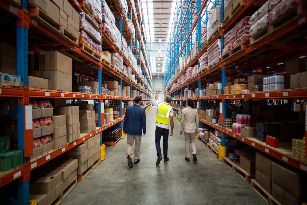 Men at a warehouse