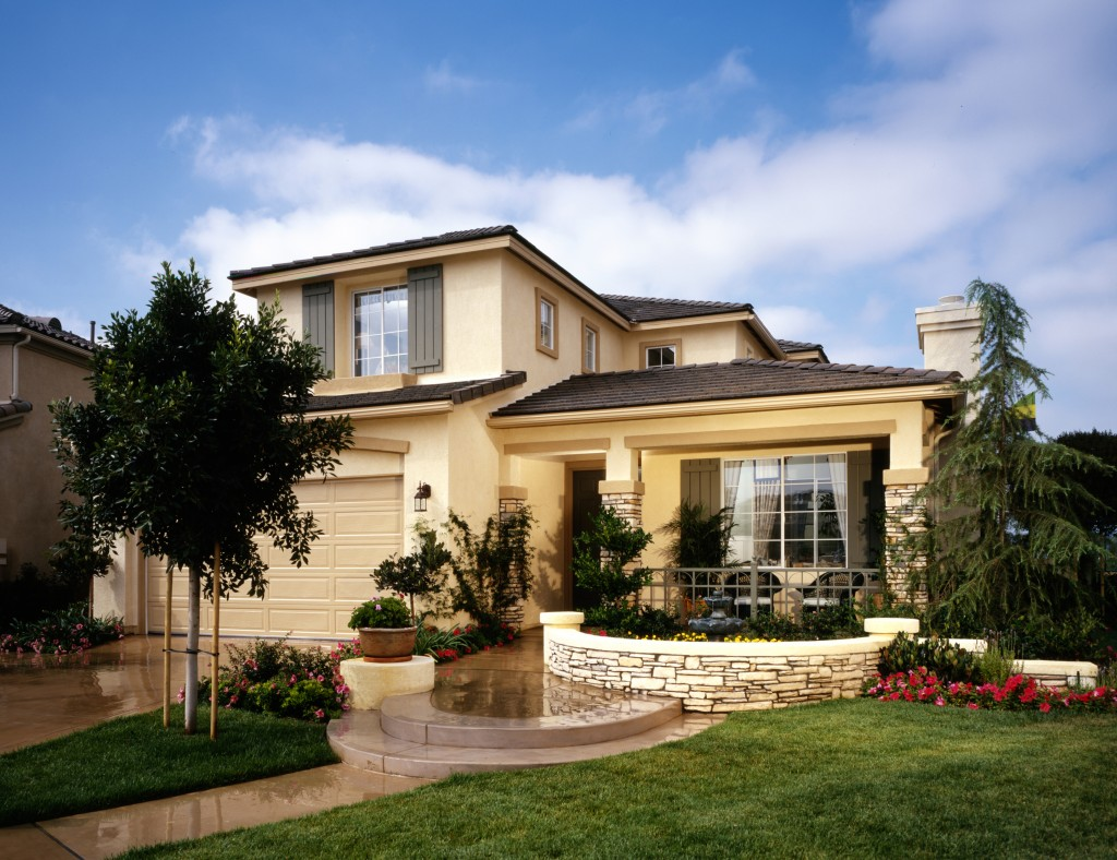 home exterior with landscape