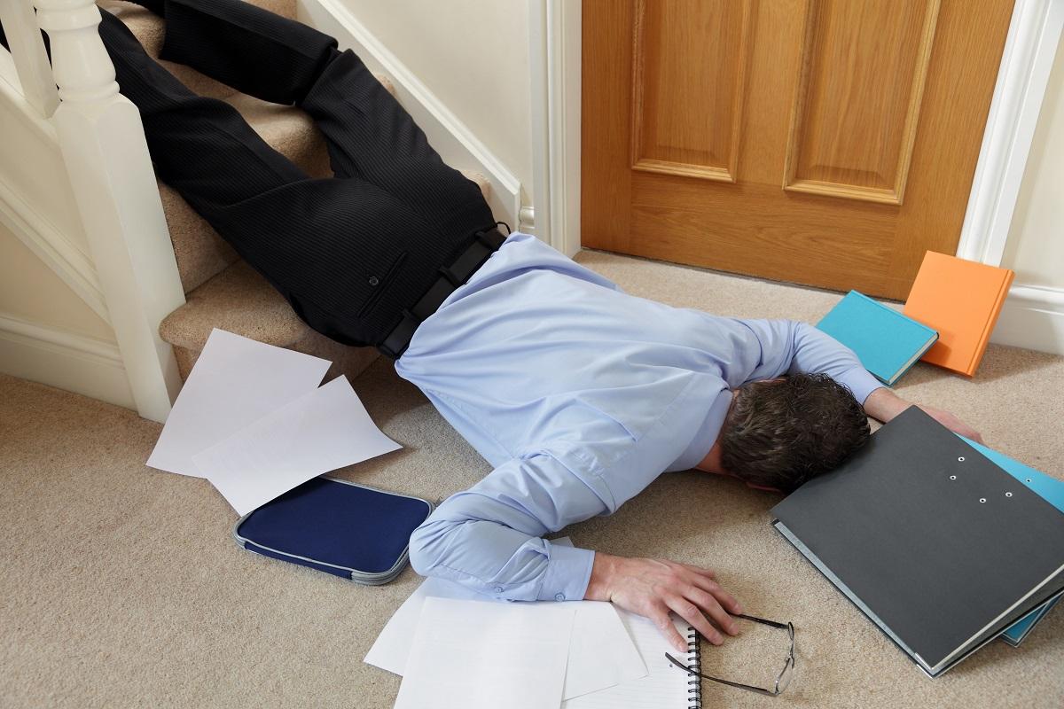 business man falling
