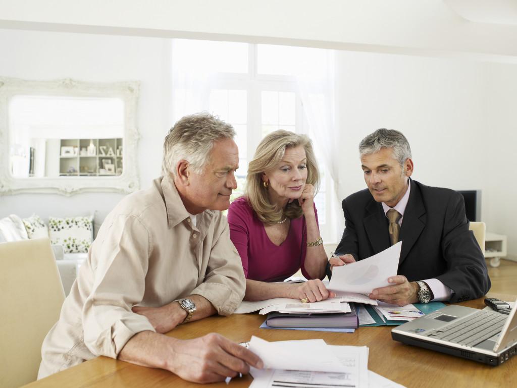 consulting a financial advisor