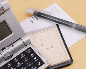 calculator and check