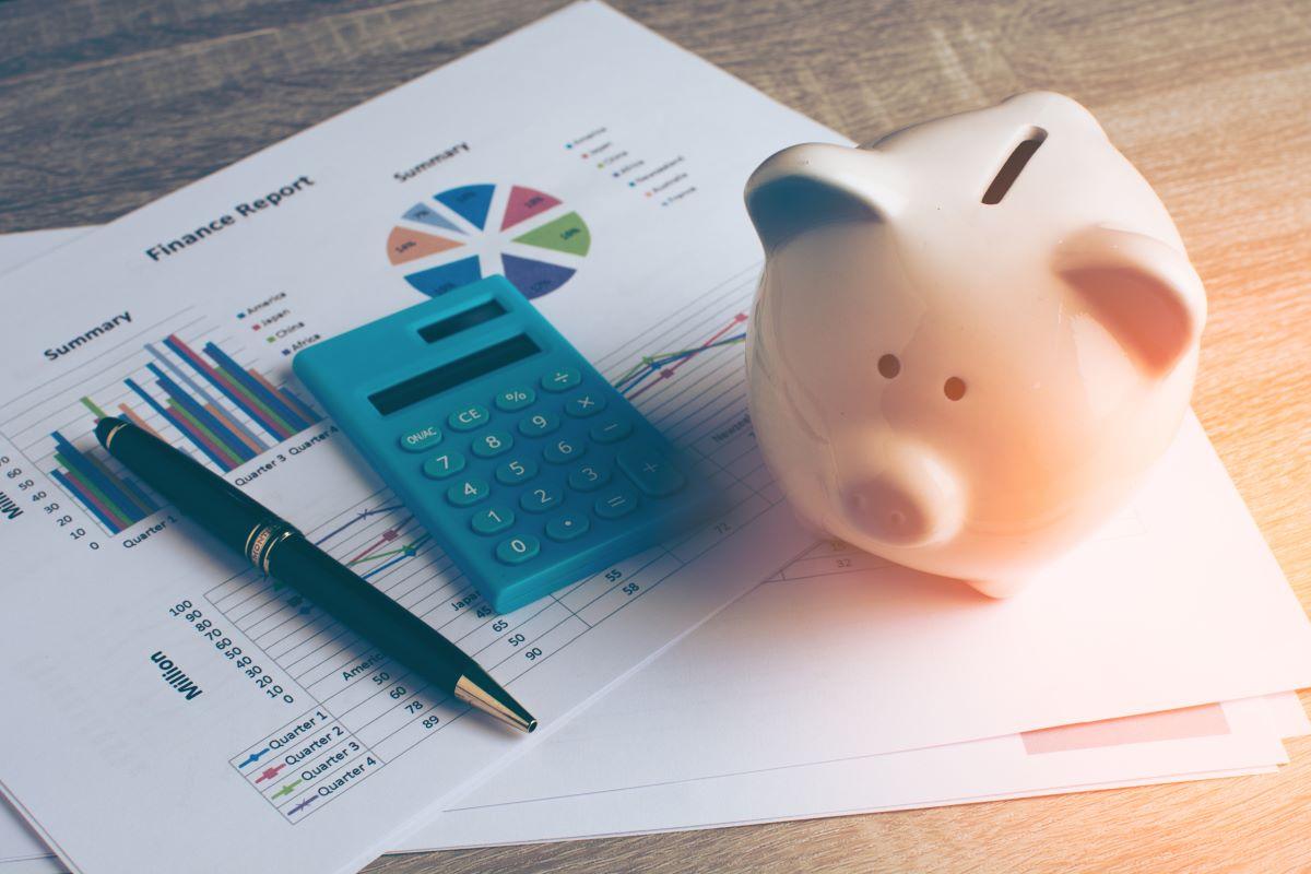 piggy bank pen calculator and reports
