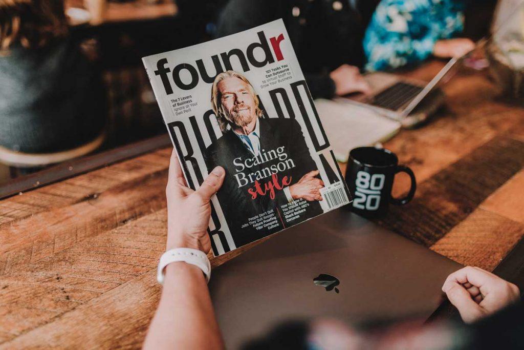 billionaire in a magazine