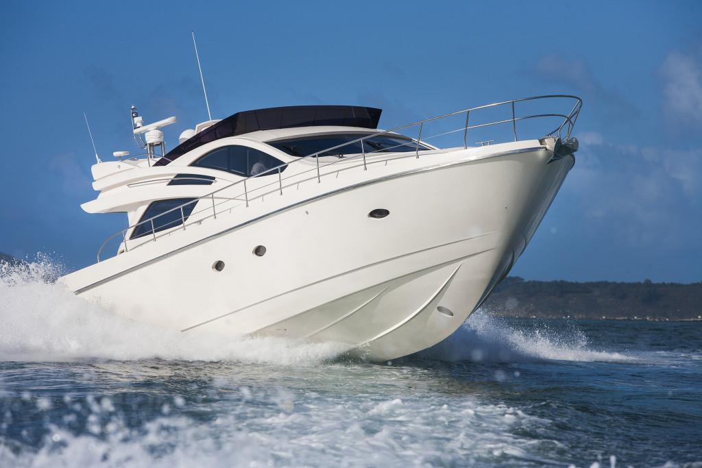speeding yacht