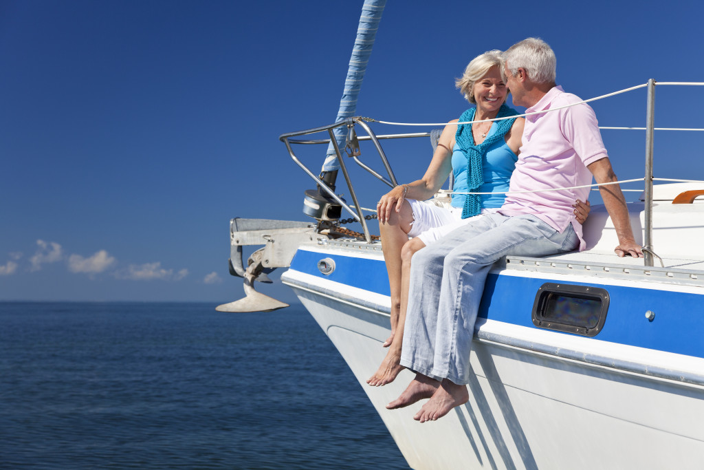 couple sitting on a boat
