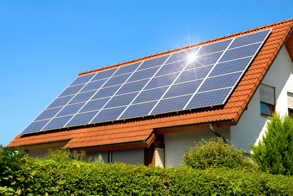 solar powered roof