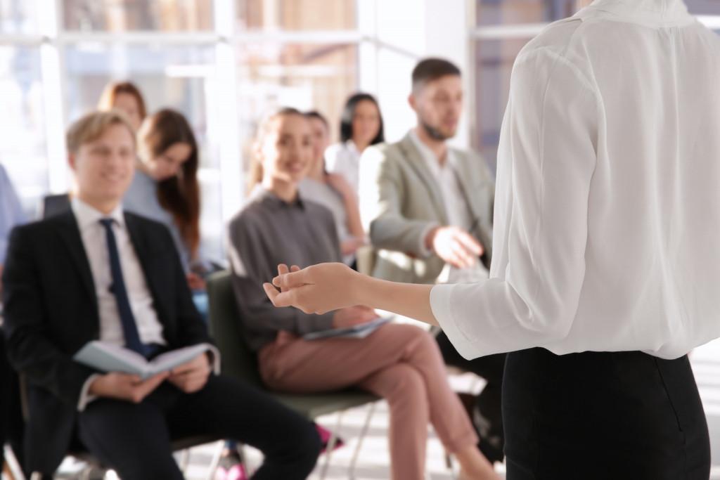 employees at a seminar